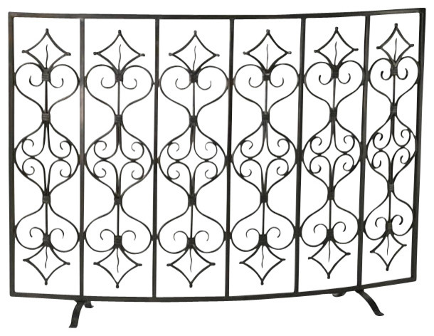 Casablanca Fire Screen traditional-fireplace-accessories