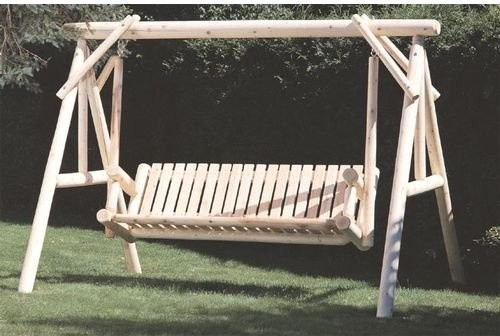 Rustic Natural Cedar Furniture Classic 6-ft. Swing and Stand Set traditional-rocking-chairs-and-gliders
