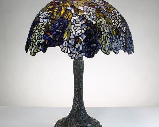 22-inch Lithe & Lovely Laburnum (Blue/Green) Gemstone Tiffany-Style Table Lamp - 22-inch Lithe & Lovely Laburnum (Blue/Green) Gemstone Tiffany-Style Table Lamp.