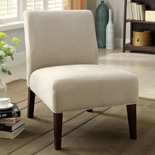 loman accent chair in ivory fabric contemporary living room chairs by dexter sykes. Black Bedroom Furniture Sets. Home Design Ideas