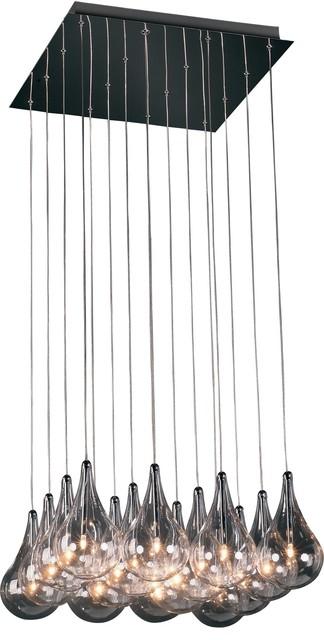 ET2 Larmes Modern / Contemporary Multi-Light Pendant X-81-71102E contemporary-pendant-lighting