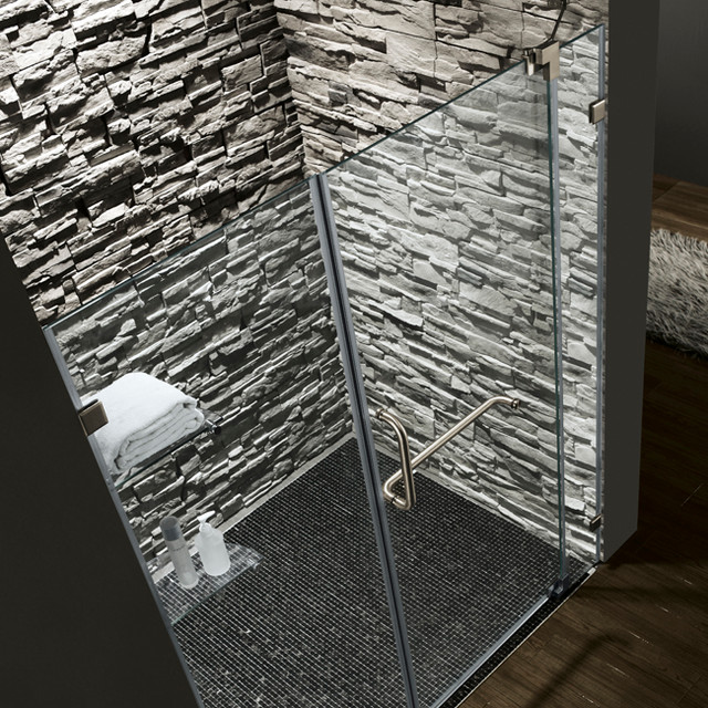 Vg6042bncl66 Frameless Shower Door Modern Shower Doors