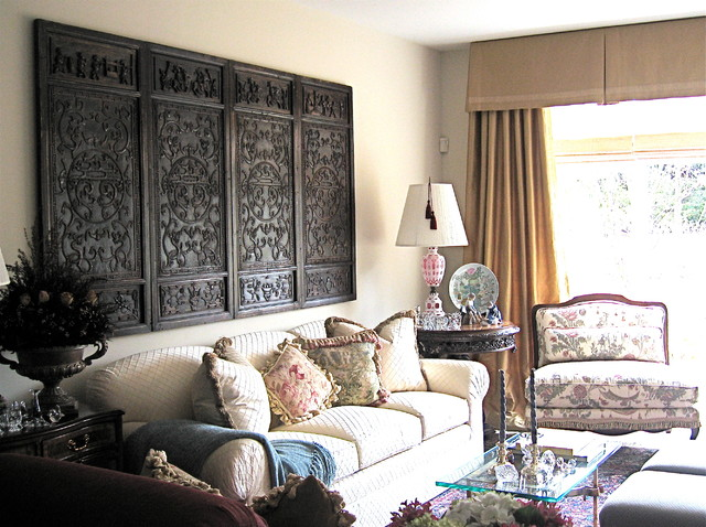 Asian eclectic home traditional living room detroit for Traditional eclectic living rooms