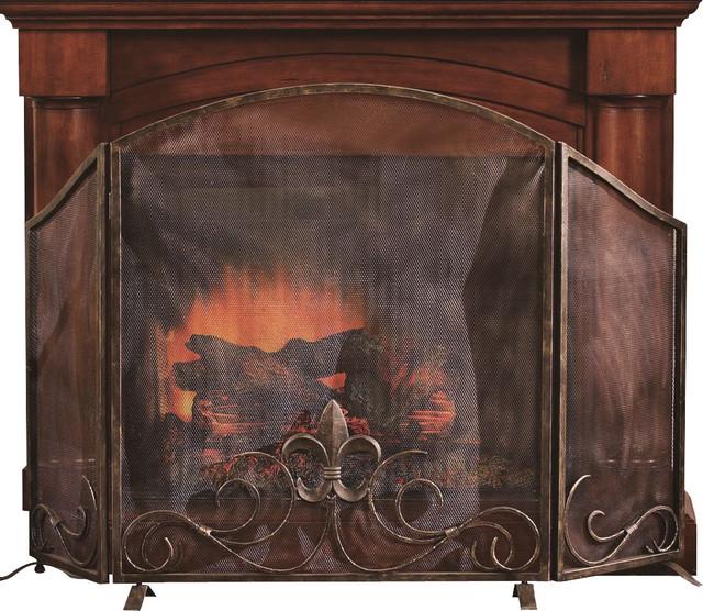 Fleur De Lis Fireplace Screen Contemporary Fireplace Screens By Shop Chimney