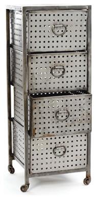Industrial 4 Drawer Bin contemporary-storage-cabinets