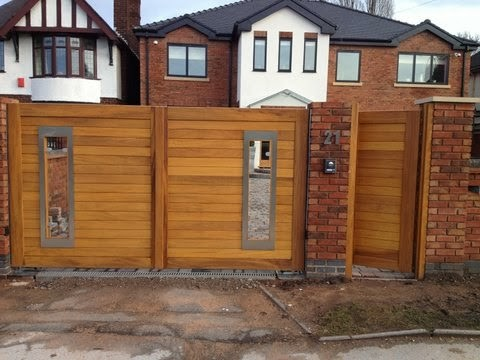 Wooden Driveway Gates Modern Other Metro By Mitech