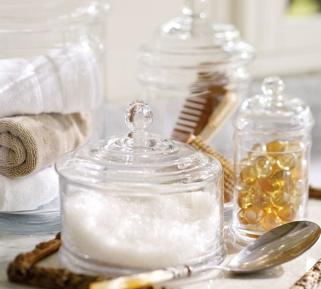 Pb Classic Glass Canister Traditional Bathroom For Glass Bath Canisters