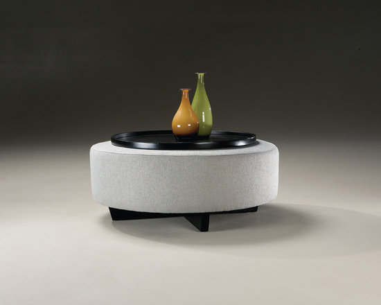 Clip Ottoman and Tray from Thayer Coggin -