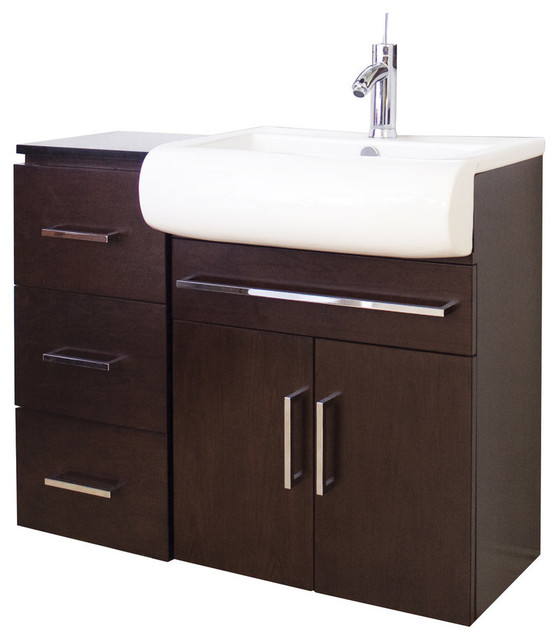 36 in w x 18 in d transitional wall mount birch wood veneer vanity set transitional for 36 x 18 bathroom vanity cabinet