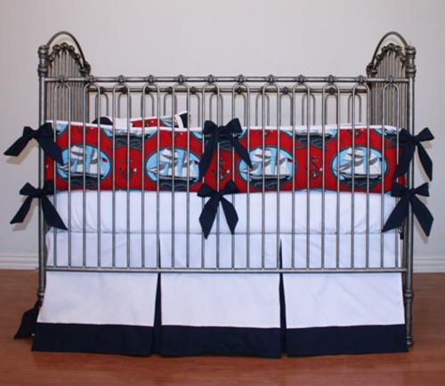 Ships Ahoy Nautical Crib Bedding, Baby Boy - Baby Bedding - new york ...