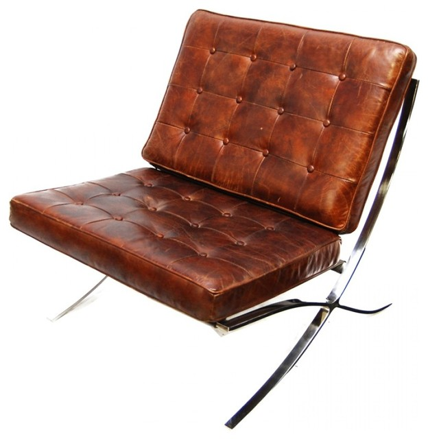 Deacon Leather Chair Midcentury Armchairs And Accent