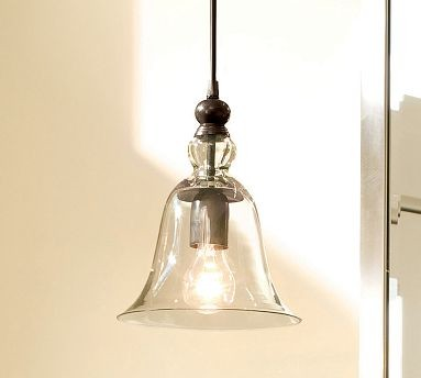 Rustic Glass Pendant | Pottery Barn -mirrors