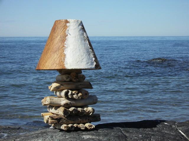 Driftwood lamps lampes de bois flott ou bois de mer eclectic table lam - Bois flotte montreal ...