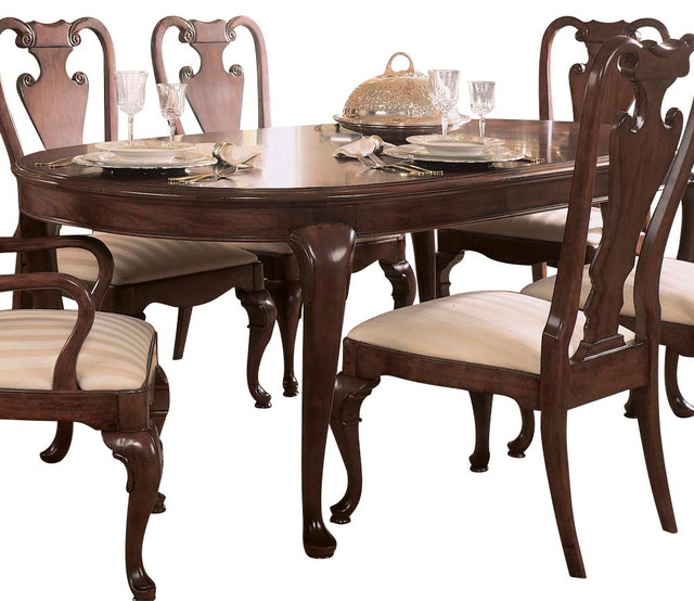 american drew cherry grove oval leg dining table in