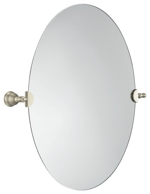 Excellent Fresh Bathroom Mirrors Brushed Nickel Finish 20729