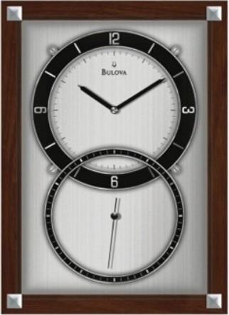 Bulova Enterprise Wall Clock - 9.75-In. Wide contemporary-clocks