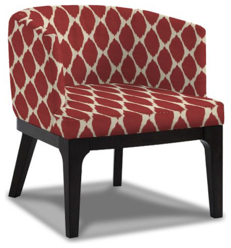 Oliver Chair, Ikat Print modern-accent-chairs