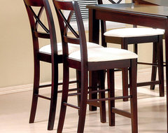Pryor Collection Counter Height Stool in Cappuccino, Set of 2 modern-mugs