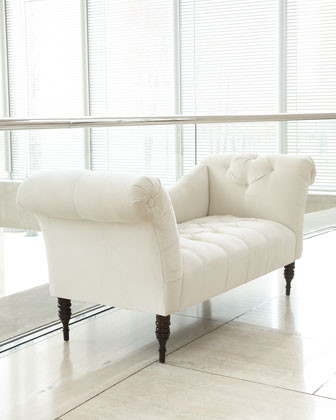 White 39 Pandora 39 Settee Traditional Indoor Benches By Horchow