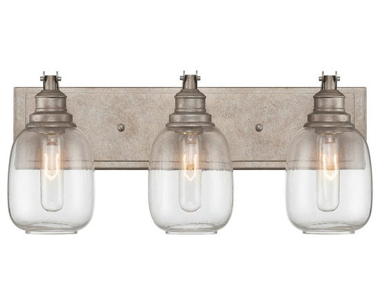 Industrial Steel Bath Light - 3 Light -