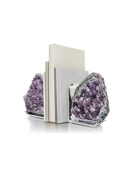 Rablabs Fim Amethyst Bookends, Set of 2 -
