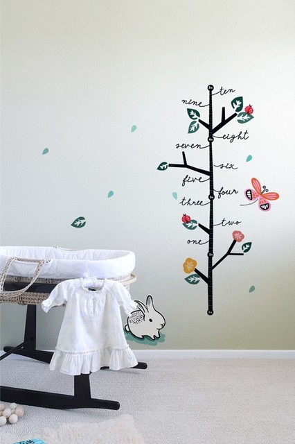 Growing Like a Weed Growth Chart contemporary kids decor