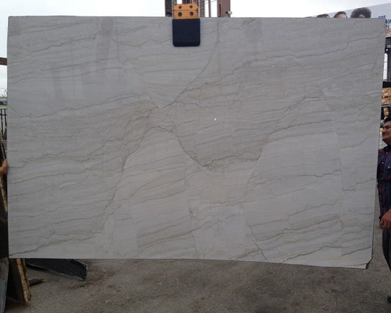 White Macauba Quartz Granite Slab from Royal Stone & Tile