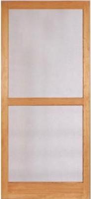 Columbia Mfg. Biltmore Mahogany Wood Screen Door traditional-screen-doors
