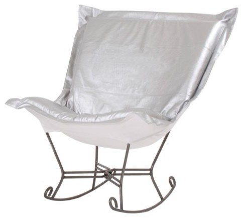 Scroll Puff Shimmer Rocking Chair contemporary-rocking-chairs
