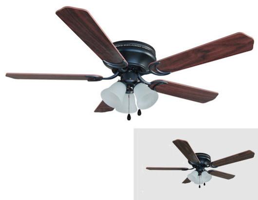 hugger ceiling fan w light kit traditional ceiling fans by door. Black Bedroom Furniture Sets. Home Design Ideas