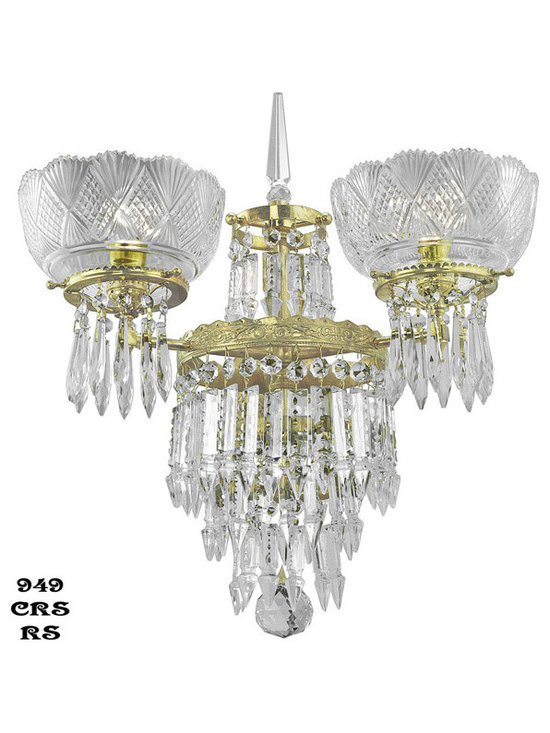 Victorian Chandeliers - Oxley-Gidding was the first choice of wealthy Victorian clients around the world,due to the fine craftsmanship and sparkle of their top quality crystal.Originally, this fixture would have been gaslight, with a wide flame burner.