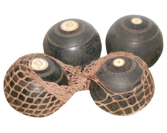 4 Scottish Lawn Balls with Net - $1,150 Est. Retail - $435 on Chairish.com -