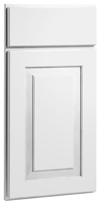 Mendota White Paint Shaker Kitchen Cabinet Sample modern-kitchen-cabinetry