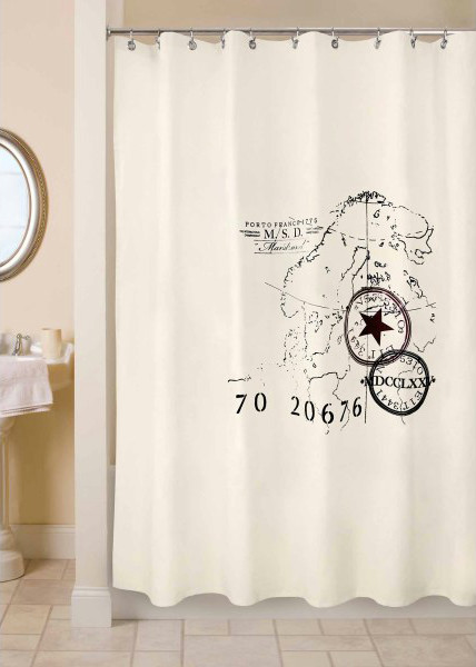 Park B. Smith World Fabric Shower Curtain - contemporary - shower