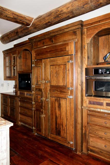 San miguel build the kitchen rustic kitchen for Albuquerque kitchen cabinets