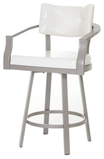 curved back swivel stool counter height 26