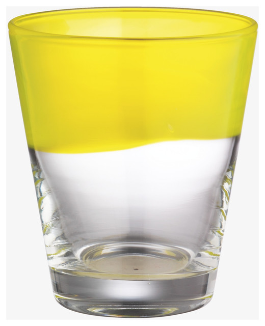 Galicia Yellow Glass Tumbler modern-everyday-glasses