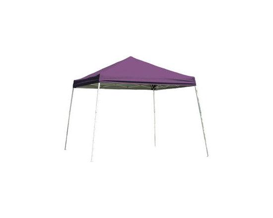 ShelterLogic - Slant Leg Popup Canopy, 8' x 8', Purple Cover, Carry Bag - Features: