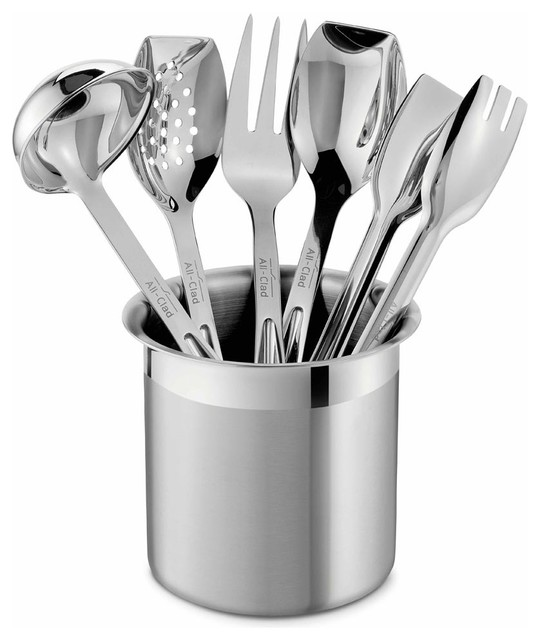 All Clad SS Cook Serve Utensil Set Contemporary
