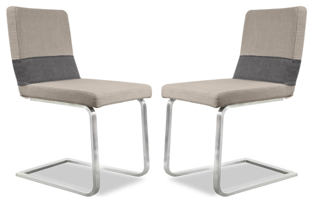 Banderole Beige-Grey Chair Set contemporary-dining-chairs