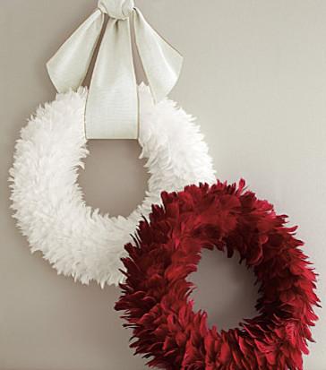 Feather Wreath Modern Wreaths And Garlands By Garnet