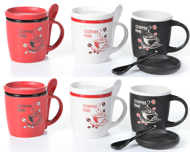 Coffee Cups With Lids : Concepts life coffee mugs with lids and spoons talk