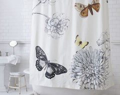 Butterfly Shower Curtain modern shower curtains