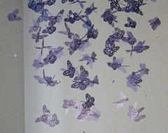Chandelier Monarch Butterfly Mobile, Purple by Dragon on the Fly contemporary-baby-mobiles