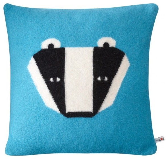 Badger Cushion, Blue modern pillows