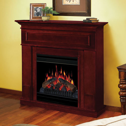 kentwood cherry electric fireplace mantel package