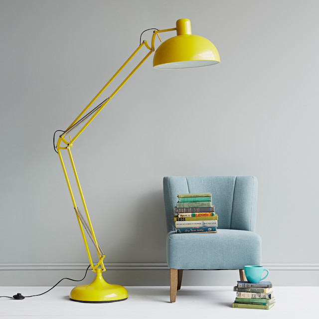Yellow floor lamp modern floor lamps london by for Giant floor lamp yellow
