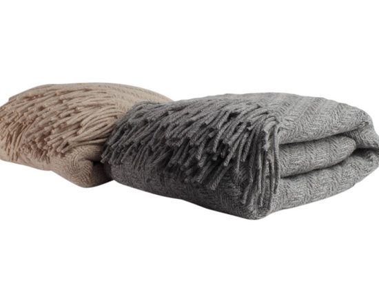 Diagonal Alpaca Throw Blanket, Grey - The craftsmanship and love is in the details with this gorgeous throw blanket. Made with 100% Baby Alpaca yarn and hand woven in a beautiful diagonal pattern, this decorative sofa throw blanket hits all the right notes. Use it as the perfect finishing touch at the end of a bed or give it as a housewarming gift.
