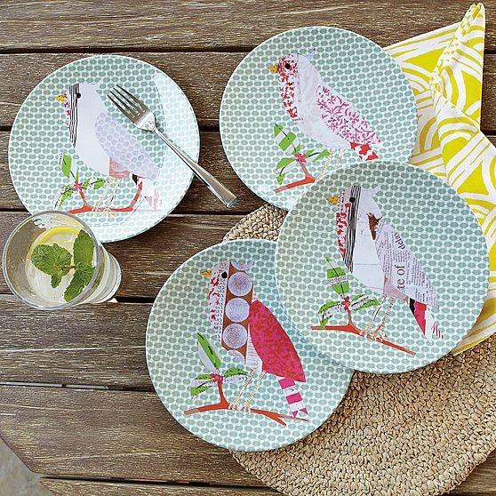 Bird Melamine Plates modern-dinner-plates