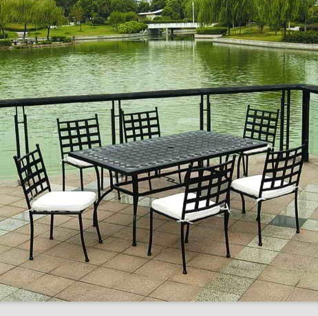 outdoor garden furniture mosaic tiles dining table chair - Beautiful Outdoor Table Chairs Balcony Design Ideas